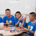 คุยกับน้องๆ ที่เทิง เรื่องหนังสือใน Samsung Smart Learning Center